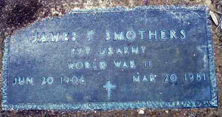 SMOTHERS (VETERAN WWII), JAMES T - Columbia County, Arkansas | JAMES T SMOTHERS (VETERAN WWII) - Arkansas Gravestone Photos