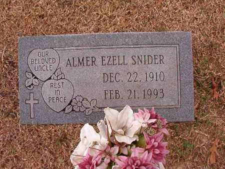 SNIDER, ALMER EZELL - Columbia County, Arkansas | ALMER EZELL SNIDER - Arkansas Gravestone Photos