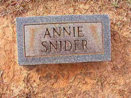 SNIDER, ANNIE - Columbia County, Arkansas | ANNIE SNIDER - Arkansas Gravestone Photos