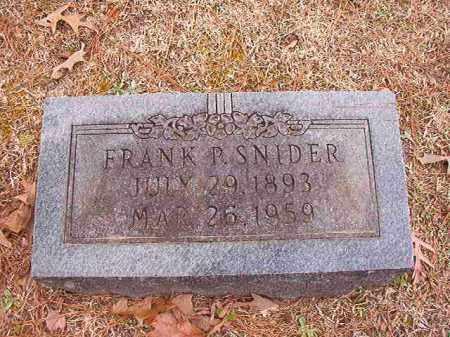 SNIDER, FRANK P - Columbia County, Arkansas | FRANK P SNIDER - Arkansas Gravestone Photos