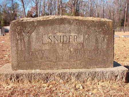 SNIDER, GEO. W - Columbia County, Arkansas | GEO. W SNIDER - Arkansas Gravestone Photos