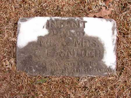 SNIDER, INFANT DAUGHTER - Columbia County, Arkansas | INFANT DAUGHTER SNIDER - Arkansas Gravestone Photos