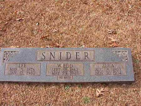 SNIDER, ZULA - Columbia County, Arkansas | ZULA SNIDER - Arkansas Gravestone Photos