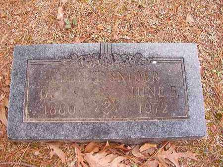 SNIDER, LEON T - Columbia County, Arkansas | LEON T SNIDER - Arkansas Gravestone Photos