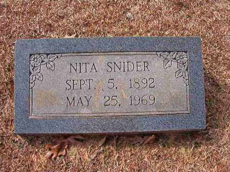 SNIDER, NITA - Columbia County, Arkansas | NITA SNIDER - Arkansas Gravestone Photos