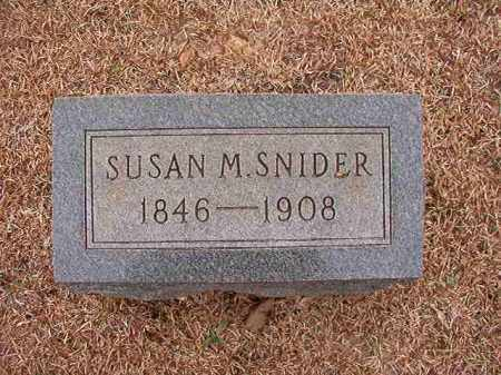 SNIDER, SUSAN M - Columbia County, Arkansas | SUSAN M SNIDER - Arkansas Gravestone Photos