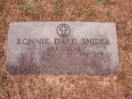 SNIDER (VETERAN VIET), RONNIE DALE - Columbia County, Arkansas | RONNIE DALE SNIDER (VETERAN VIET) - Arkansas Gravestone Photos