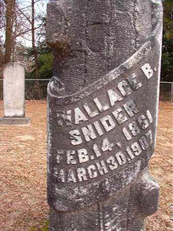 SNIDER, WALLACE B - Columbia County, Arkansas | WALLACE B SNIDER - Arkansas Gravestone Photos