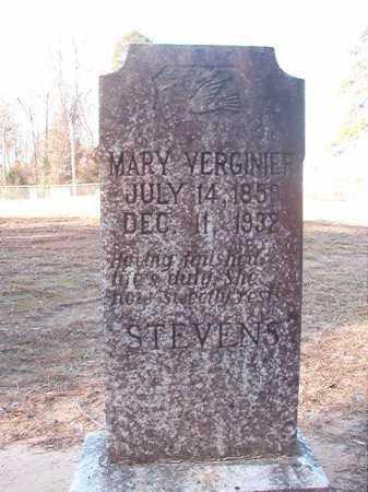 STEVENS, MARY VERGINIER - Columbia County, Arkansas | MARY VERGINIER STEVENS - Arkansas Gravestone Photos
