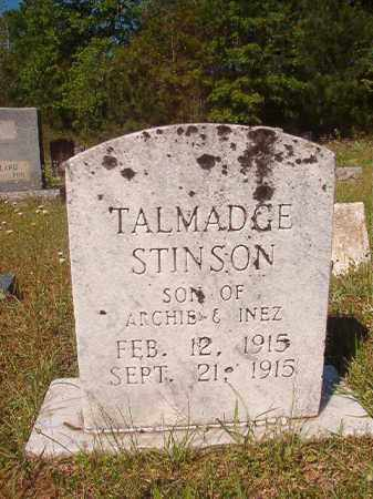 STINSON, TALMADGE - Columbia County, Arkansas | TALMADGE STINSON - Arkansas Gravestone Photos
