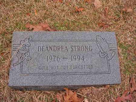 STRONG, DEANDREA - Columbia County, Arkansas | DEANDREA STRONG - Arkansas Gravestone Photos