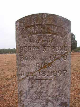STRONG, MARTHA - Columbia County, Arkansas | MARTHA STRONG - Arkansas Gravestone Photos