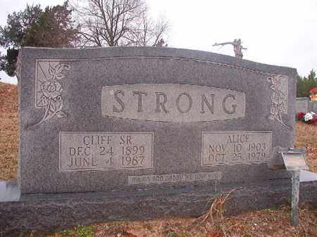 STRONG, ALICE - Columbia County, Arkansas | ALICE STRONG - Arkansas Gravestone Photos