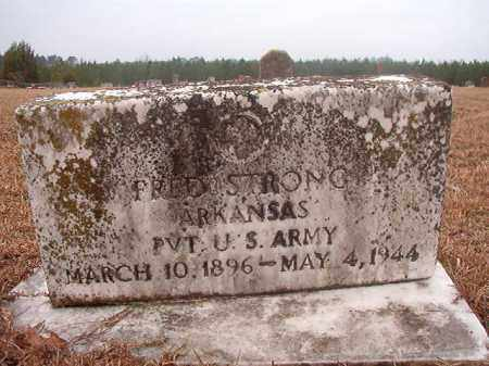 STRONG (VETERAN), FRED - Columbia County, Arkansas | FRED STRONG (VETERAN) - Arkansas Gravestone Photos