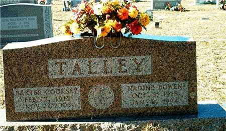 TALLEY, BAXTER COOKSEY - Columbia County, Arkansas | BAXTER COOKSEY TALLEY - Arkansas Gravestone Photos