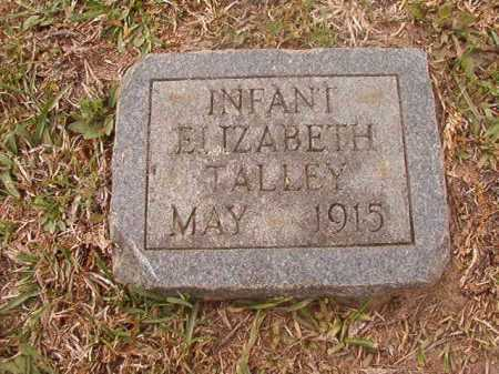 TALLEY, ELIZABETH - Columbia County, Arkansas | ELIZABETH TALLEY - Arkansas Gravestone Photos