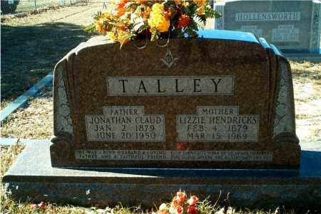 "HENDRICKS TALLEY, SARAH ELIZABETH ""LIZZIE"" - Columbia County, Arkansas 
