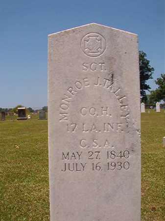 TALLEY (VETERAN CSA), MONROE J - Columbia County, Arkansas | MONROE J TALLEY (VETERAN CSA) - Arkansas Gravestone Photos