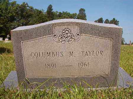 TAYLOR, COLUMBUS M - Columbia County, Arkansas | COLUMBUS M TAYLOR - Arkansas Gravestone Photos