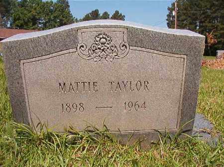 TAYLOR, MATTIE - Columbia County, Arkansas | MATTIE TAYLOR - Arkansas Gravestone Photos