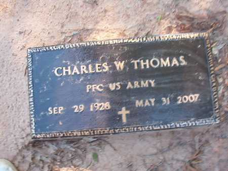 THOMAS (VETERAN), CHARLES W - Columbia County, Arkansas | CHARLES W THOMAS (VETERAN) - Arkansas Gravestone Photos