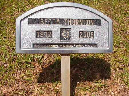 THORNTON, BETTY - Columbia County, Arkansas | BETTY THORNTON - Arkansas Gravestone Photos