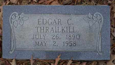 THRAILKILL, EDGAR C - Columbia County, Arkansas | EDGAR C THRAILKILL - Arkansas Gravestone Photos