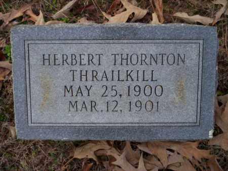 THRAILKILL, HERBERT THORNTON - Columbia County, Arkansas | HERBERT THORNTON THRAILKILL - Arkansas Gravestone Photos