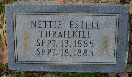 THRAILKILL, NETTIE ESTELL - Columbia County, Arkansas | NETTIE ESTELL THRAILKILL - Arkansas Gravestone Photos