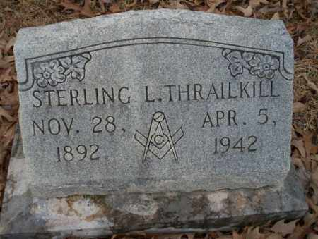 THRAILKILL, STERLING L - Columbia County, Arkansas | STERLING L THRAILKILL - Arkansas Gravestone Photos