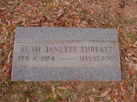THREATT, RUTH JANETTE - Columbia County, Arkansas | RUTH JANETTE THREATT - Arkansas Gravestone Photos