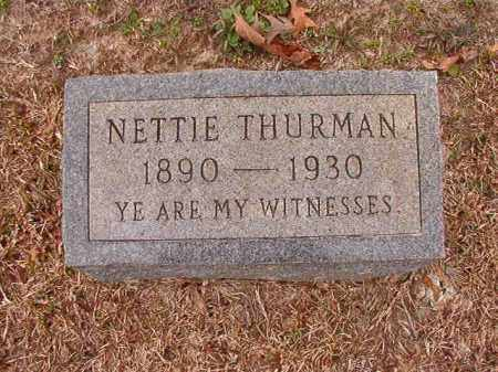 THURMAN, NETTIE - Columbia County, Arkansas | NETTIE THURMAN - Arkansas Gravestone Photos