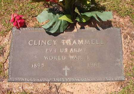 TRAMMELL (VETERAN WWI), CLINCY - Columbia County, Arkansas | CLINCY TRAMMELL (VETERAN WWI) - Arkansas Gravestone Photos