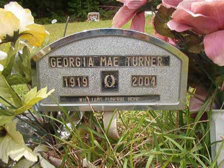 TURNER, GEORGIA MAE - Columbia County, Arkansas | GEORGIA MAE TURNER - Arkansas Gravestone Photos