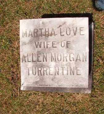 TURRENTINE, MARTHA LOVE - Columbia County, Arkansas | MARTHA LOVE TURRENTINE - Arkansas Gravestone Photos