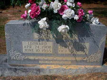 VINE, LEONARD - Columbia County, Arkansas | LEONARD VINE - Arkansas Gravestone Photos