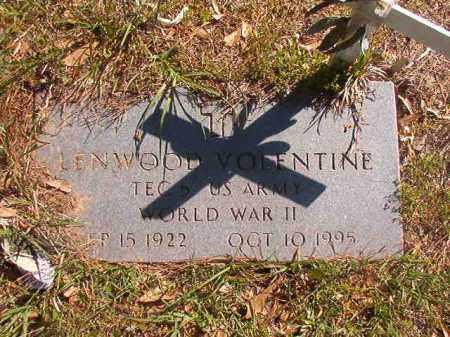 VOLENTINE (VETERAN WWII), LENWOOD - Columbia County, Arkansas | LENWOOD VOLENTINE (VETERAN WWII) - Arkansas Gravestone Photos