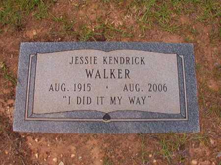 KENDRICK WALKER, JESSIE - Columbia County, Arkansas | JESSIE KENDRICK WALKER - Arkansas Gravestone Photos