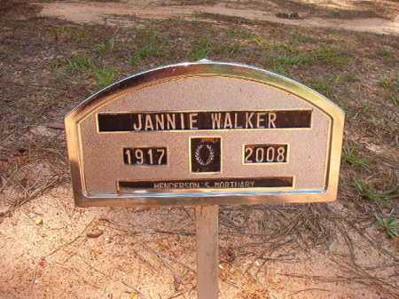 WALKER, JANNIE - Columbia County, Arkansas | JANNIE WALKER - Arkansas Gravestone Photos