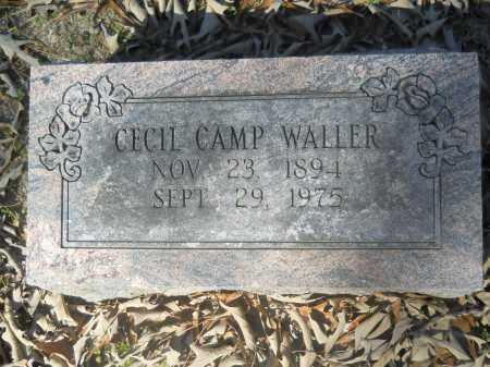 WALLER, CECIL CAMP - Columbia County, Arkansas | CECIL CAMP WALLER - Arkansas Gravestone Photos