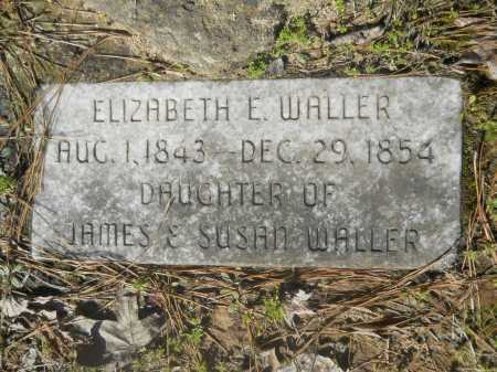 WALLER, ELIZABETH E. - Columbia County, Arkansas | ELIZABETH E. WALLER - Arkansas Gravestone Photos