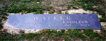 WALLER, KATHLEEN - Columbia County, Arkansas | KATHLEEN WALLER - Arkansas Gravestone Photos