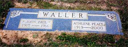 PEACE WALLER, ATHLENE - Columbia County, Arkansas | ATHLENE PEACE WALLER - Arkansas Gravestone Photos