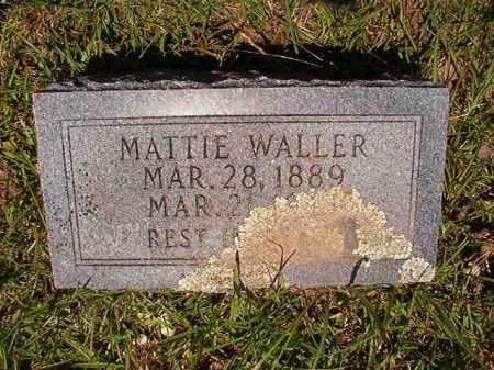 WALLER, MATTIE - Columbia County, Arkansas | MATTIE WALLER - Arkansas Gravestone Photos