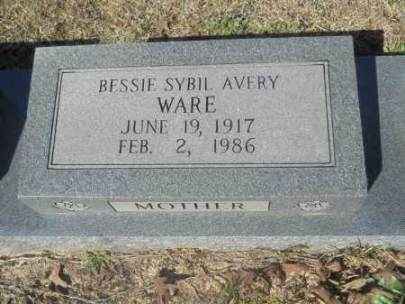 AVERY WARE, BESSIE SYBIL - Columbia County, Arkansas | BESSIE SYBIL AVERY WARE - Arkansas Gravestone Photos