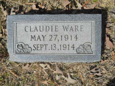 WARE, CLAUDIE - Columbia County, Arkansas | CLAUDIE WARE - Arkansas Gravestone Photos