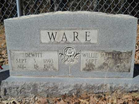 ROGERS WARE, WILLIE MAE - Columbia County, Arkansas | WILLIE MAE ROGERS WARE - Arkansas Gravestone Photos