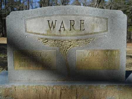 WARE, EARNEST E - Columbia County, Arkansas | EARNEST E WARE - Arkansas Gravestone Photos