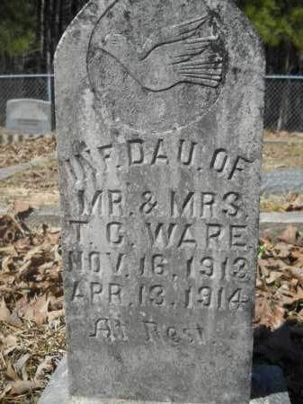WARE, INFANT - Columbia County, Arkansas | INFANT WARE - Arkansas Gravestone Photos