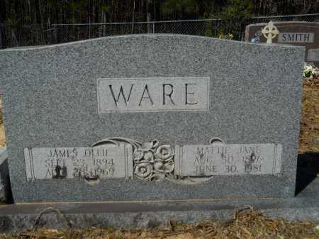 WARE, JAMES OLLIE - Columbia County, Arkansas | JAMES OLLIE WARE - Arkansas Gravestone Photos
